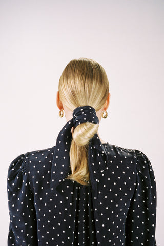 SCARF | dotted navy