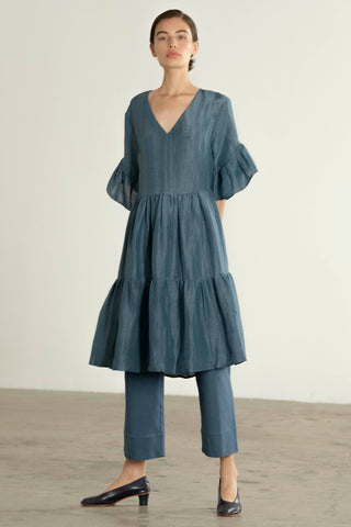 GAYLE DRESS | cerulean