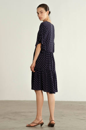GAYLE DRESS | dotted navy