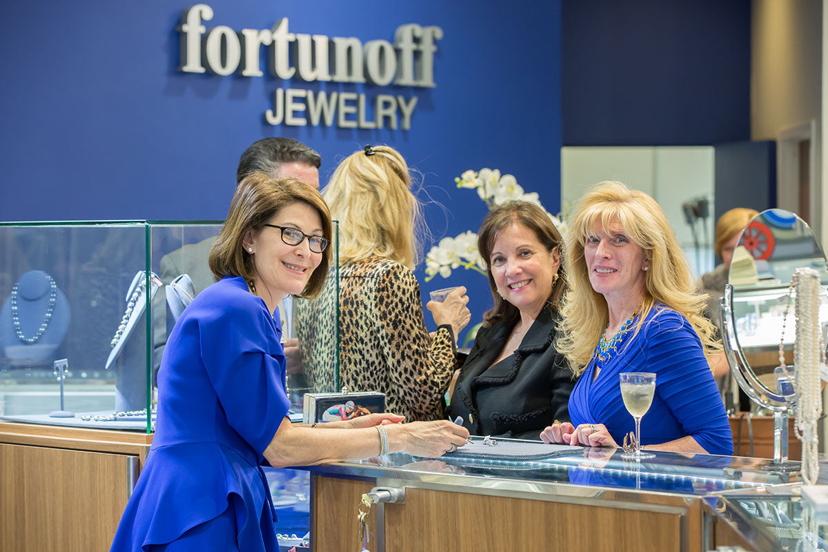 Esther Fortunoff at her jewelry store