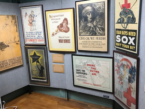 World War I posters at the Old Westbury Gardens exhibit