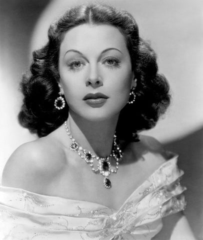 Hedy Lamarr in 1948, at the peak of her beauty, burnished by gems.