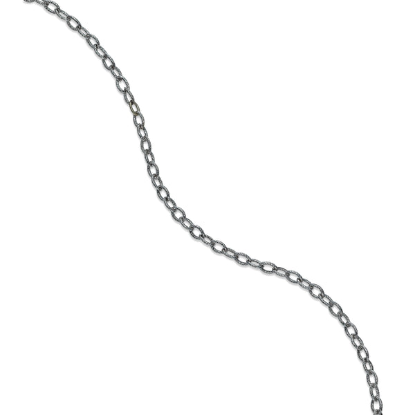Open Link Ankle Bracelet, 14K White Gold
