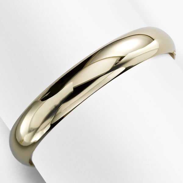 Dome Bangle, 14 Karat Yellow Gold, .45 Inch Wide