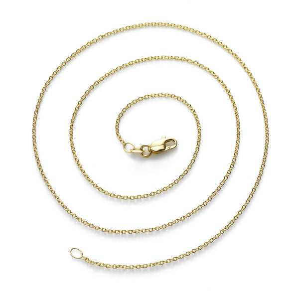 Cable Chain, 18 Inches, 18K Yellow Gold