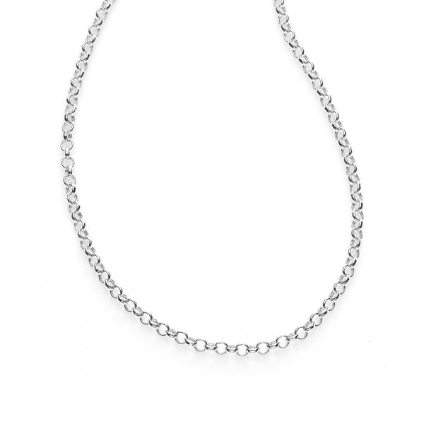 Lightweight Cable Chain, 18 Inches, 14K White Gold