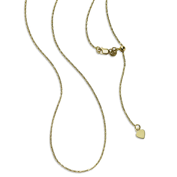Raso Chain Necklace, 24 Inches, 14K Yellow Gold
