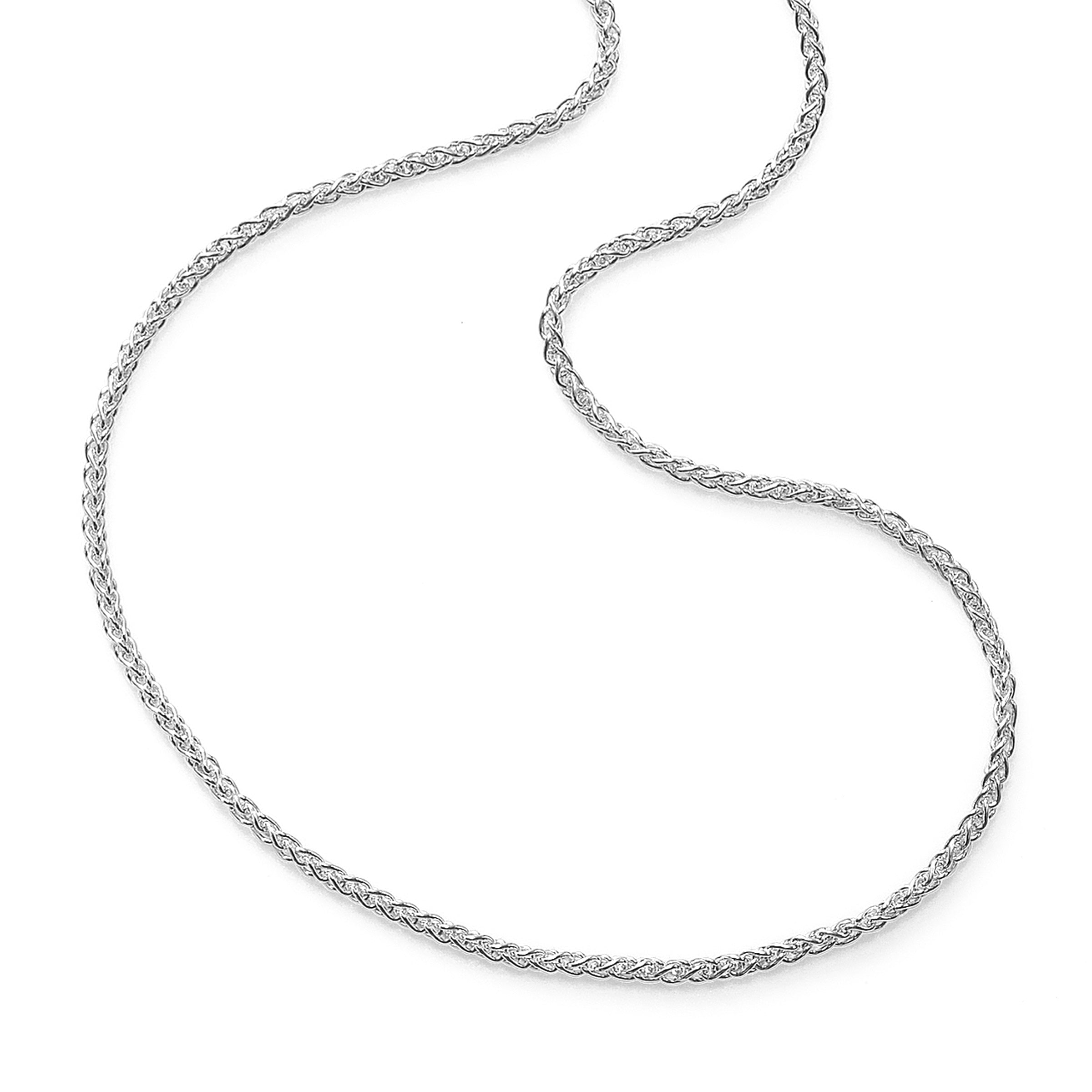 Wheat Chain, 24 Inches, 14K White Gold