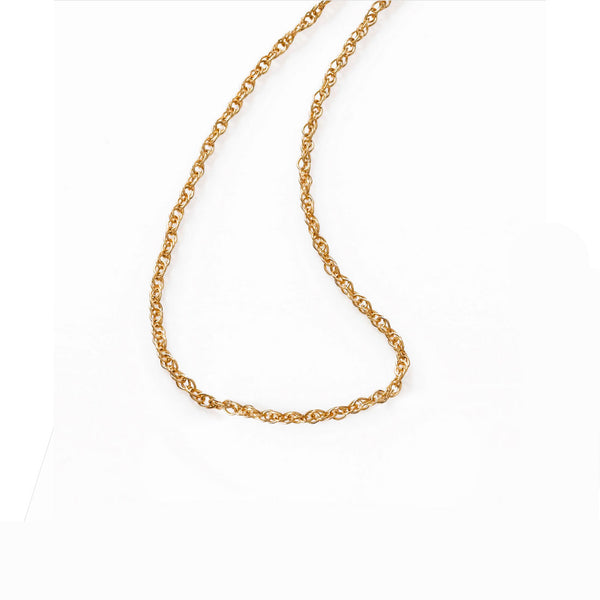 Lightweight Diamond Cut Rope Chain, 18 Inches, 14K Yellow Gold