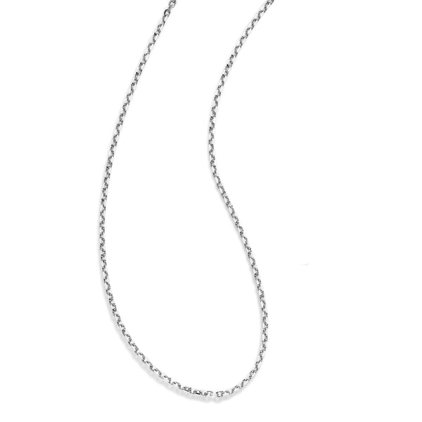 Squared Cable Chain, 30 Inches, Sterling Silver