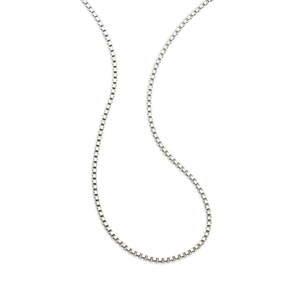Versatile Box Chain, 18 Inches, Sterling Silver