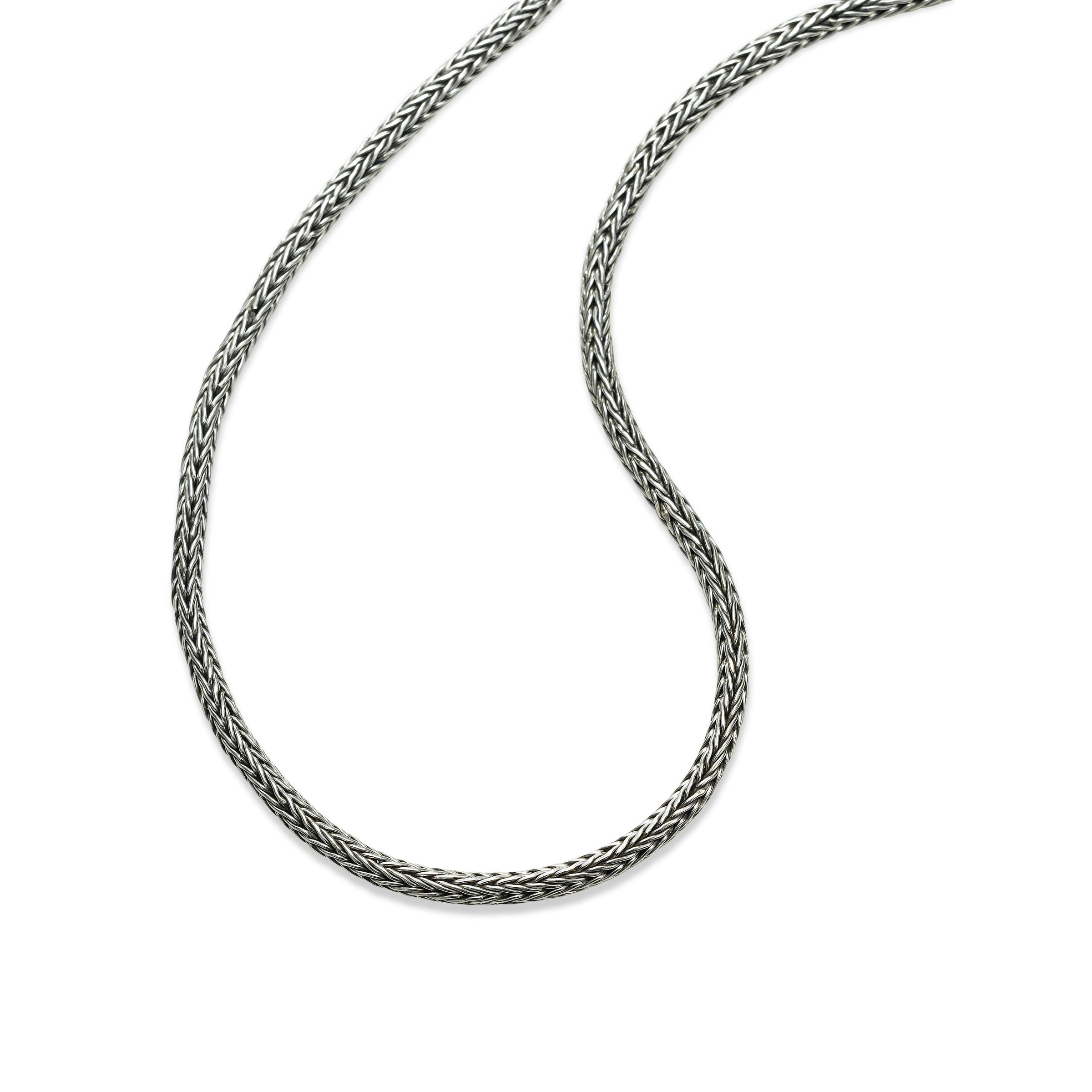 Tulang Naga Woven Chain, 20 Inches, Sterling Silver
