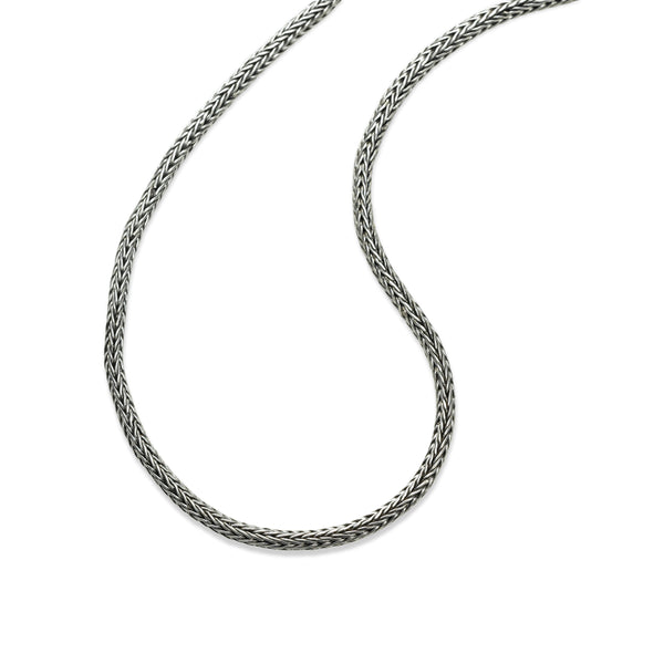 Tulang Naga Weaved Chain, 20 Inches, Sterling Silver
