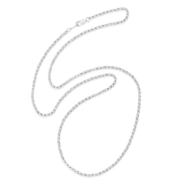 Rolo Link Chain, 20 Inches, Sterling Silver