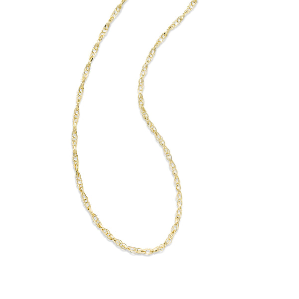 Open Link Chain, 18 Inches, 14K Yellow Gold