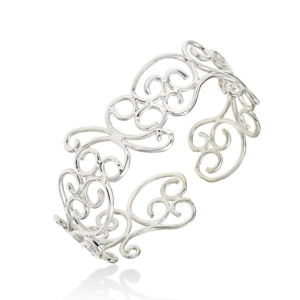 Scrollwork Cuff, Sterling Silver, by Sharelli