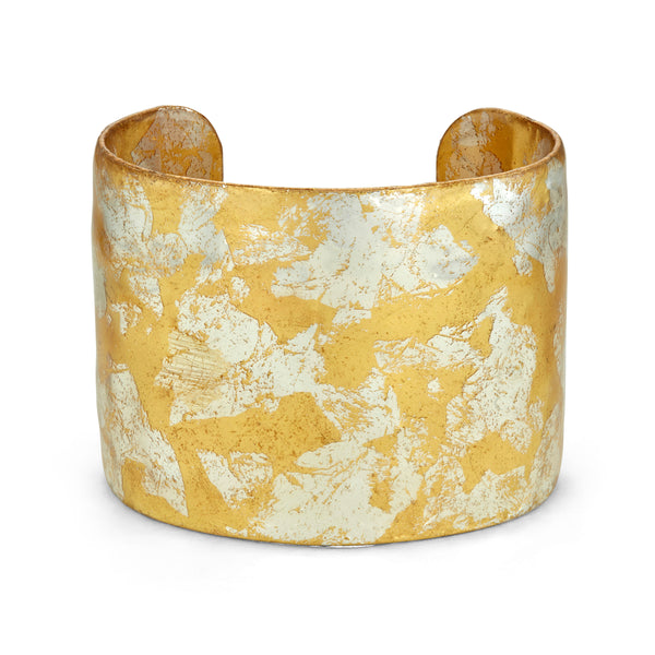'Stockholm' Enamel Cuff Bracelet, Gold Leaf, by Evocateur