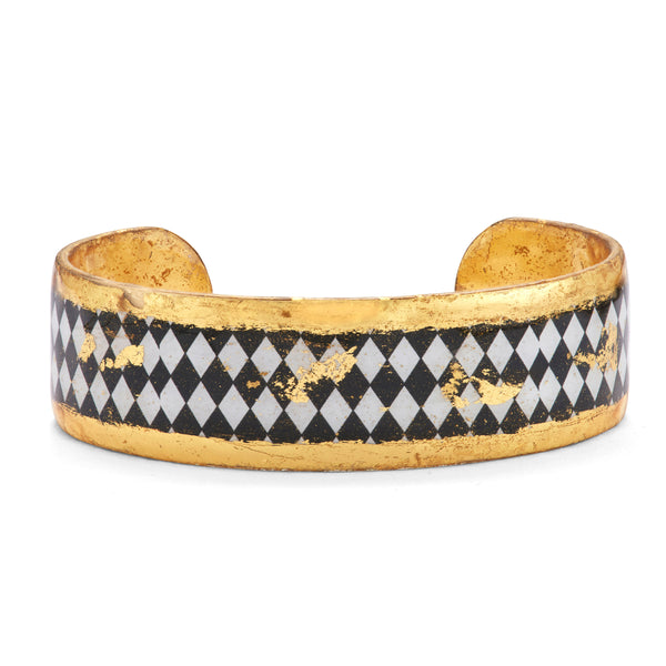 'Harlequin' Enamel Cuff Bracelet, Gold Leaf, by Evocateur