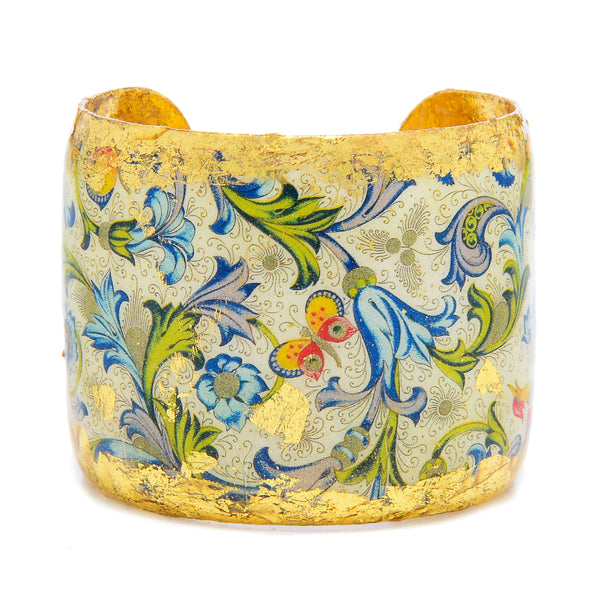 'Firenze' Enamel Cuff Bracelet, Gold Leaf, by Evocateur