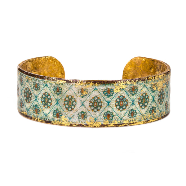 'Veneto' Enamel Cuff Bracelet, Gold Leaf, by Evocateur