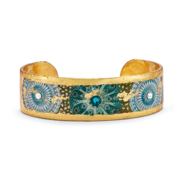 'Jellies' Enamel Cuff Bracelet, Gold Leaf, by Evocateur