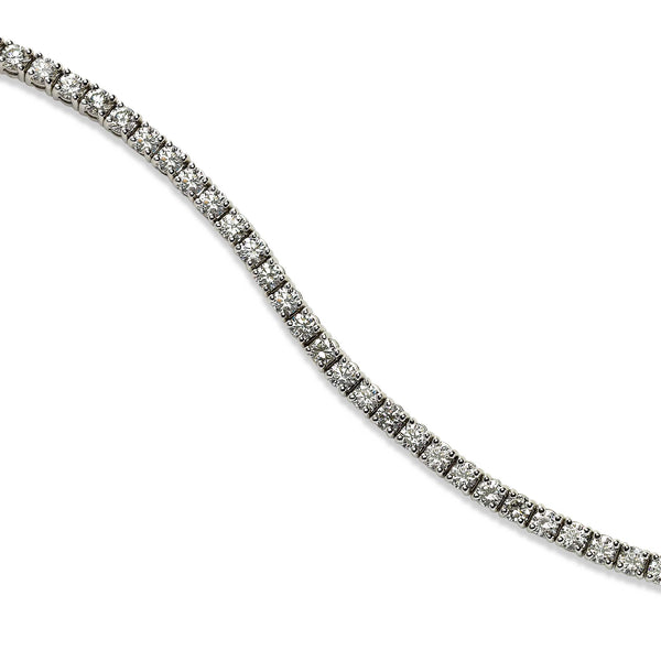 Four Prong Diamond Tennis Bracelet, 2.24 Carats, 14K White Gold
