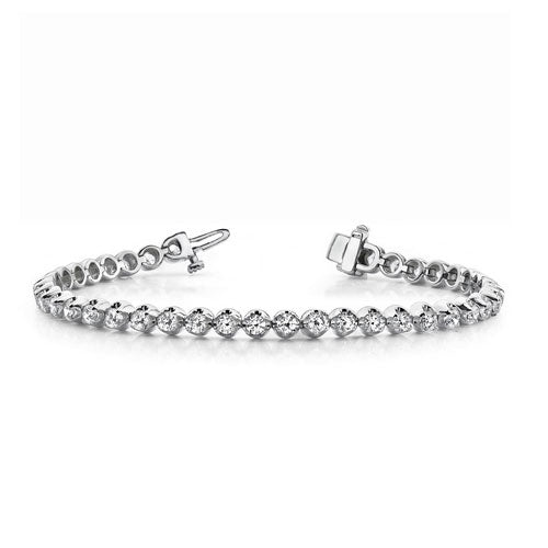 Diamond Tennis Bracelet, 1 Carat, 14K White Gold