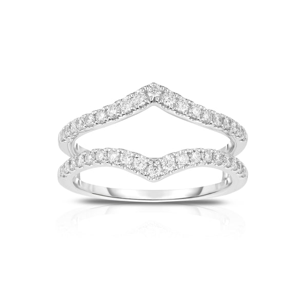 Diamond Insert Ring, .47 Carat, 14K White Gold
