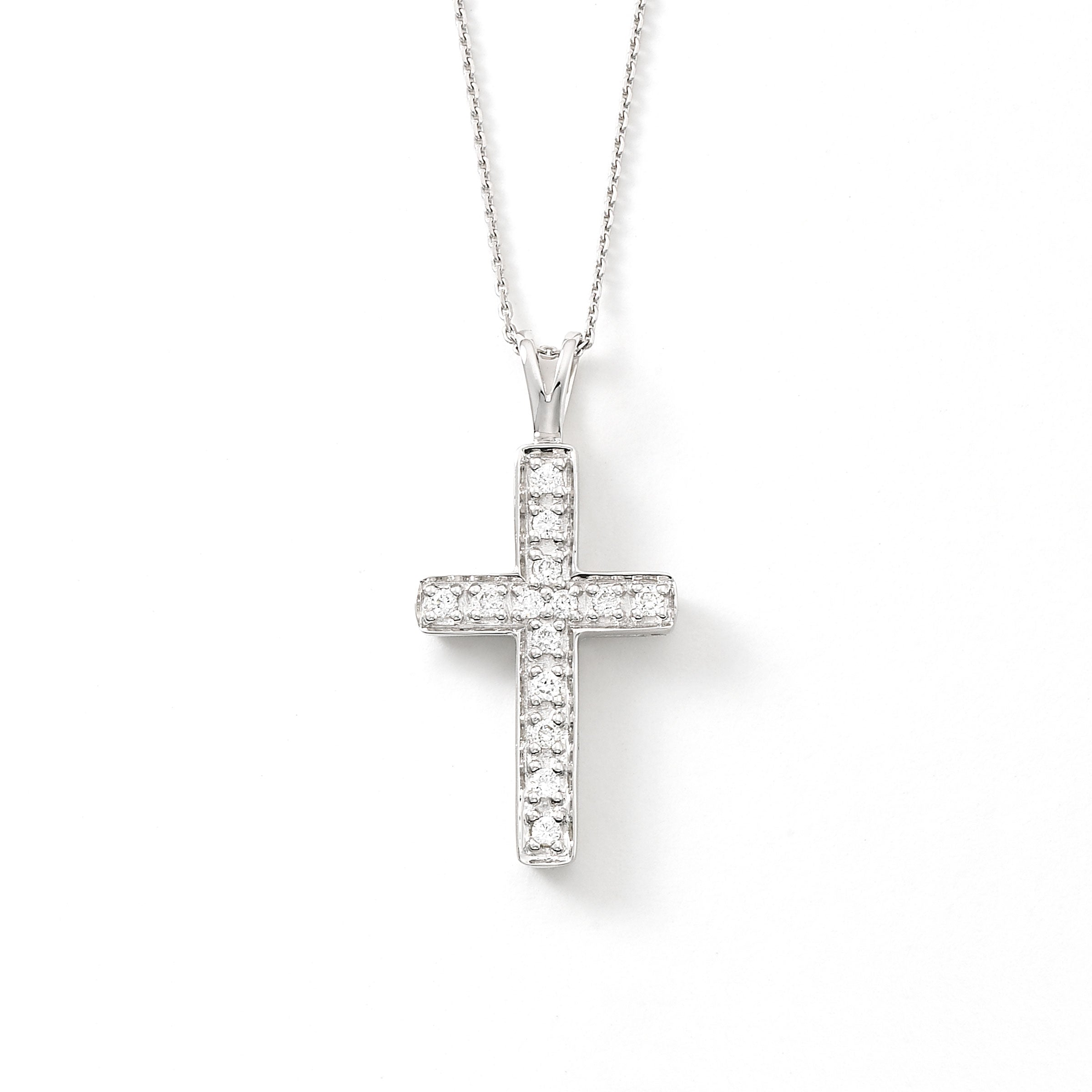 Diamond Cross, .15 Carat, 14K White Gold