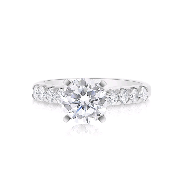 Diamond Engagement Ring Mounting, .48 Carat, 14K White Gold