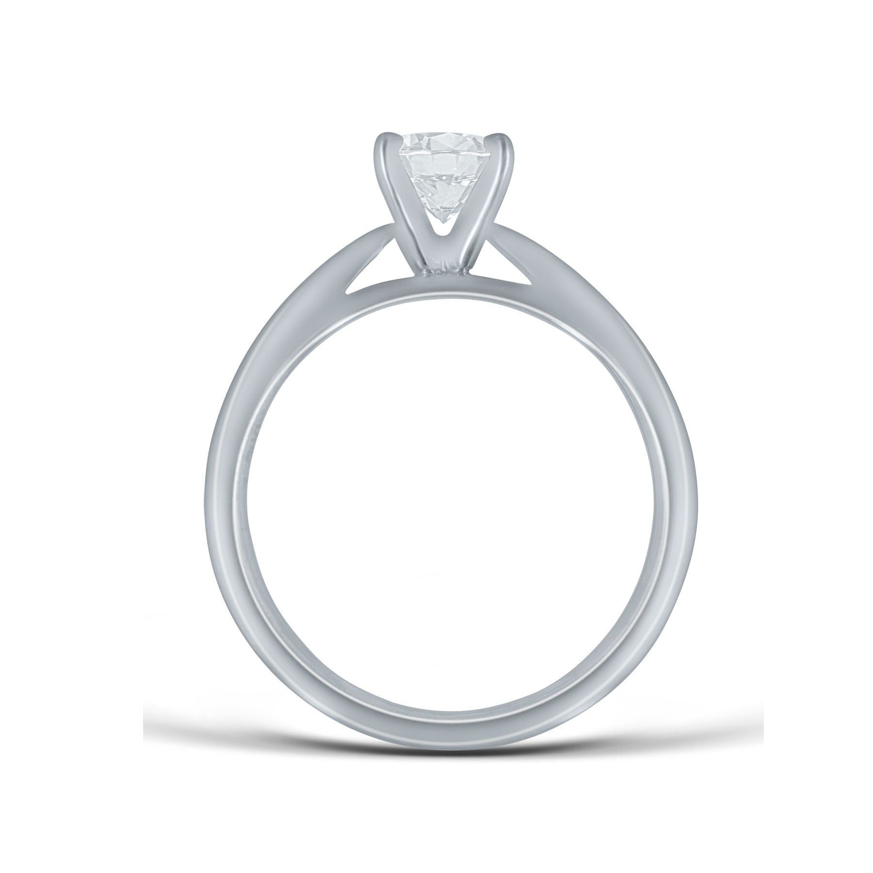 Engagement Ring Mounting, Solitaire Style, Platinum