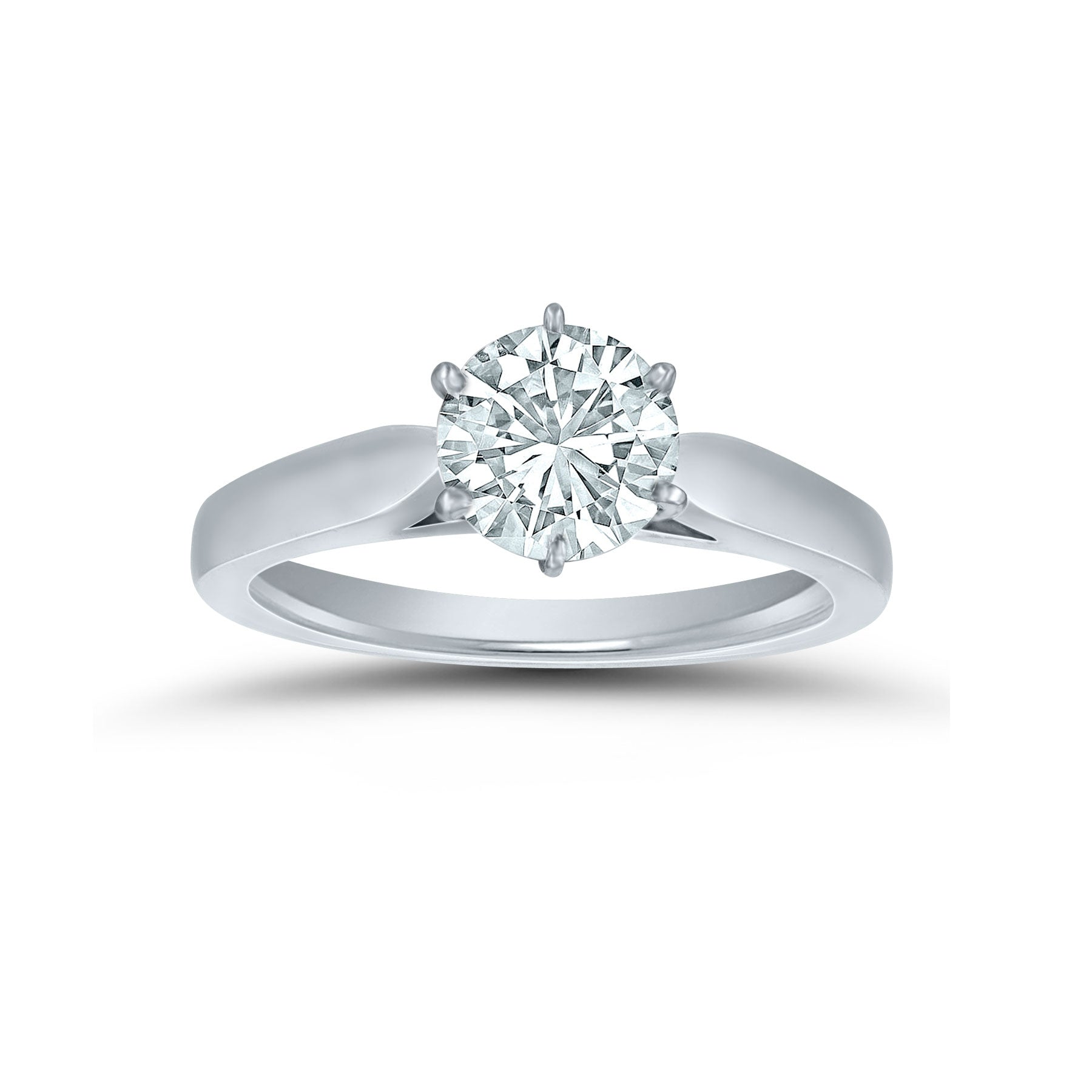 Engagement Ring Mounting, Solitare Style, 14K White Gold
