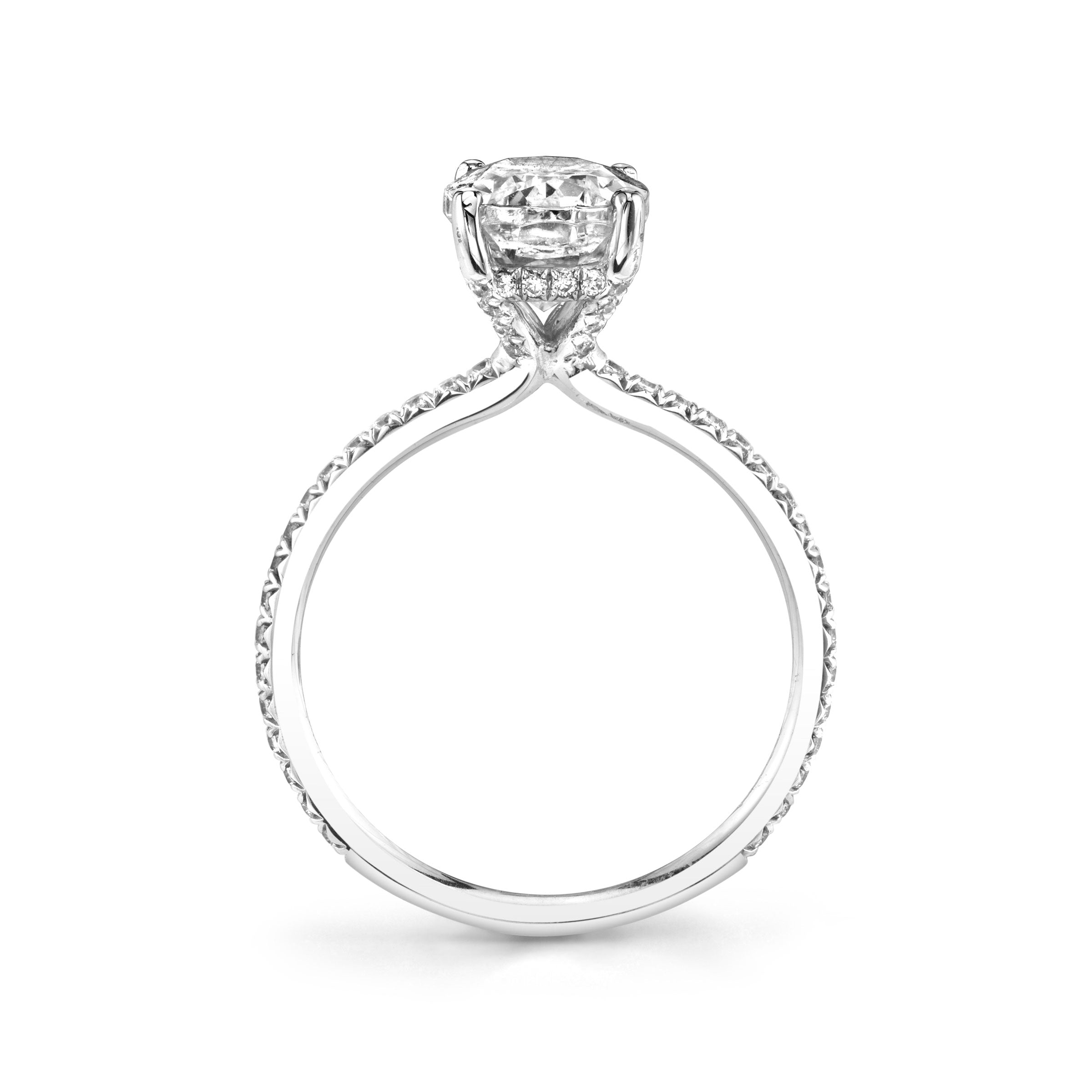 Diamond Engagement Ring by Sylvie, .80 Carat Center, 14K White Gold