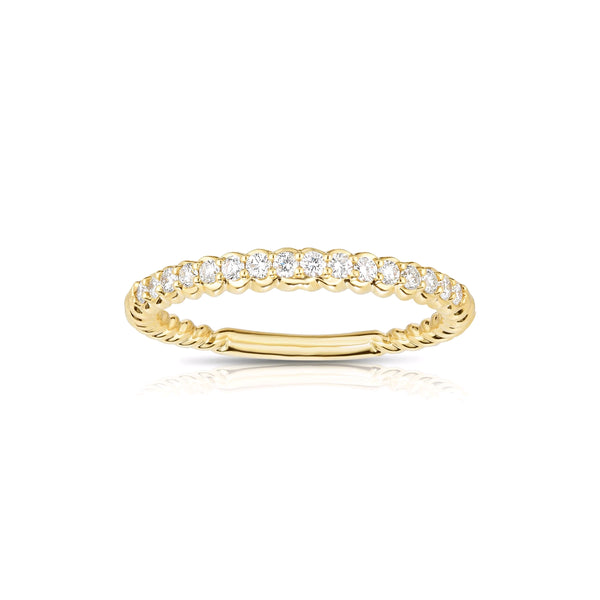 Halfway Shared Prong Diamond Band, 14K Yellow Gold