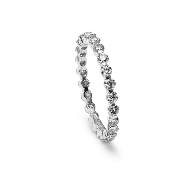 Diamond Eternity Band, 14K White Gold