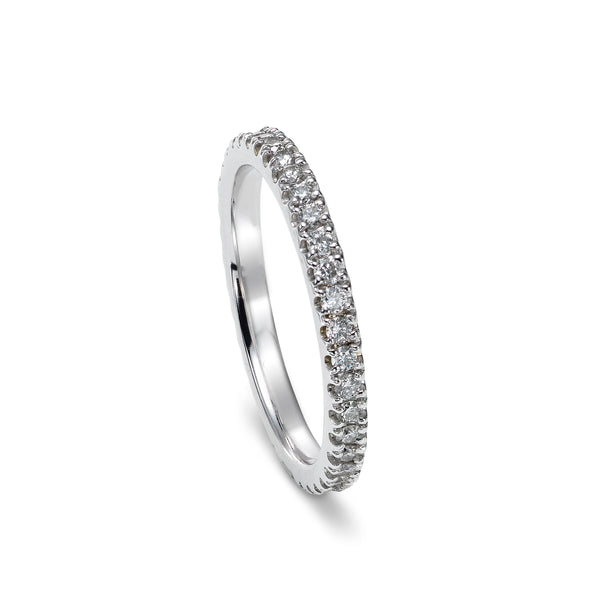 Prong Set Diamond Eternity Band, 14K White Gold