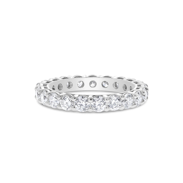 Shared Prong Diamond Eternity Band, 2.50 Carats Total, 14K White Gold