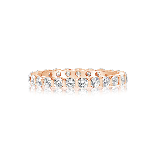 Diamond Eternity Band, 1 Carat Total, 14K Rose Gold