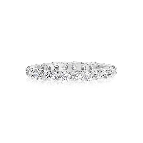 Shared Prong Diamond Eternity Band, 1.50 Carats Total, 14K White Gold