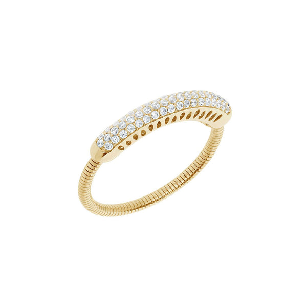 Pavé Diamond Expandable Ring, 14K Yellow Gold