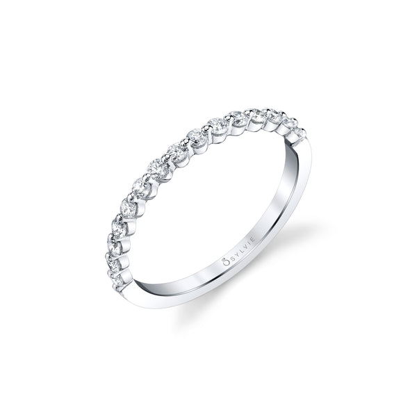 Mutual Prong Diamond Band by Sylvie, 14K White Gold