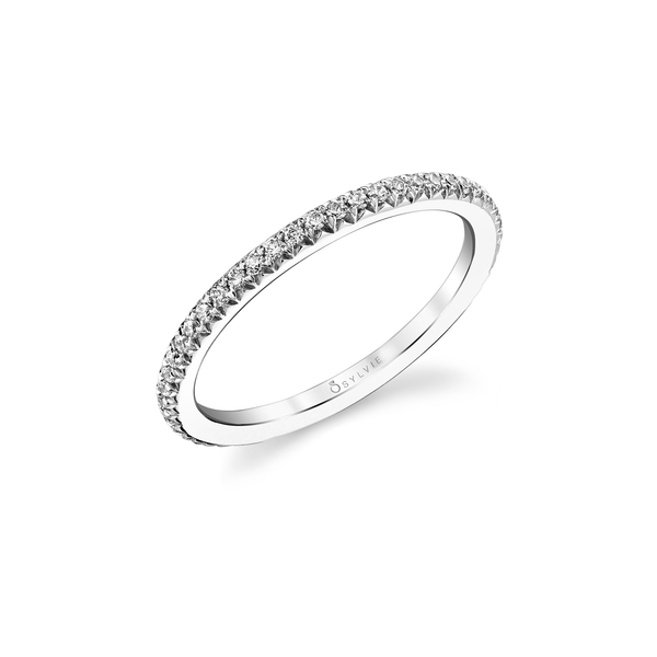 Diamond Eternity Band by Sylvie, .22 Carat Total, 14K White Gold
