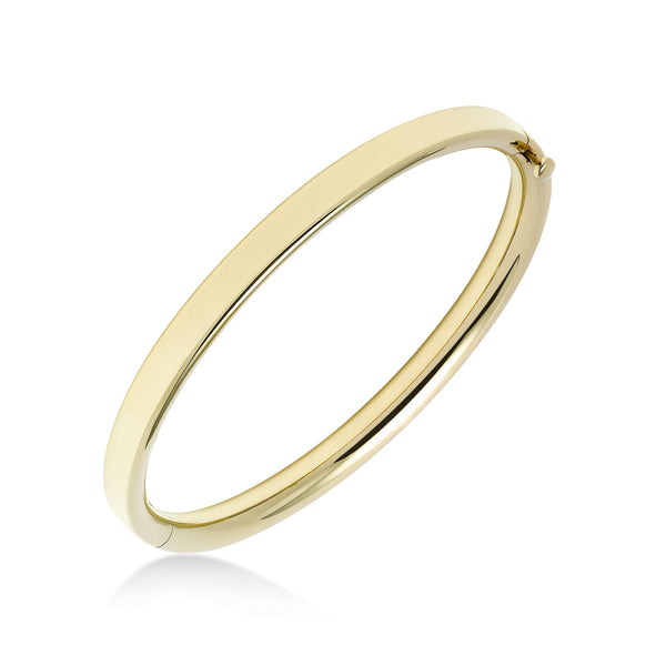 Engravable Baby's Bangle Bracelet, 14K Yellow Gold