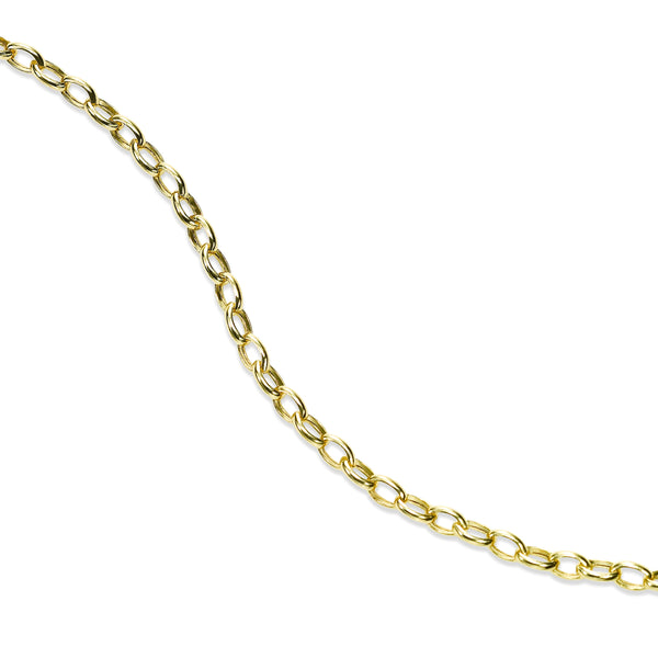 Petite Oval Link Bracelet, 14K Yellow Gold
