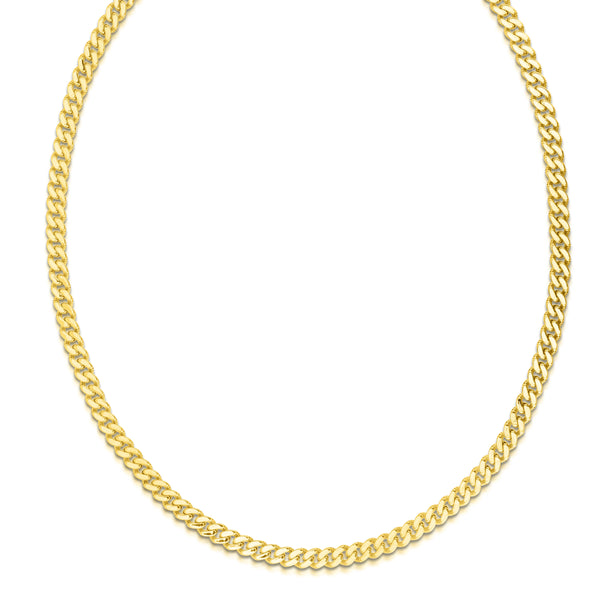 Cuban Link Necklace, 22 Inches, 14K Yellow Gold