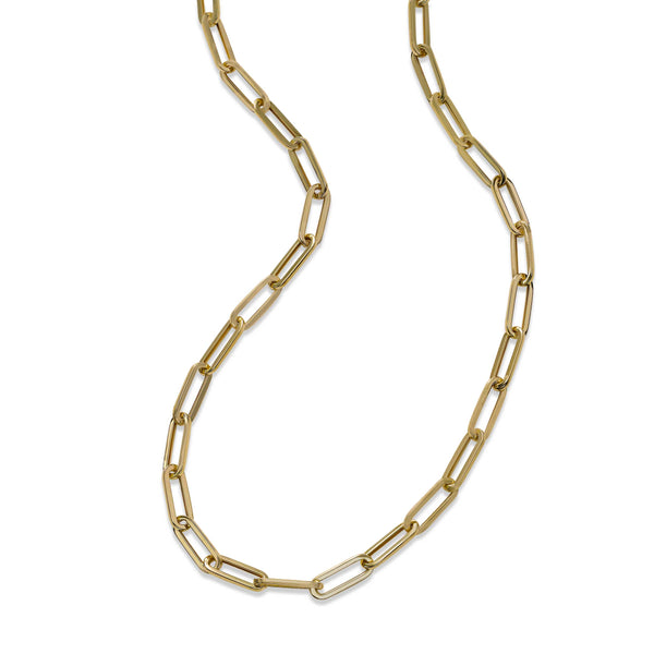 Paperclip Chain, 20 Inches, 14K Yellow Gold
