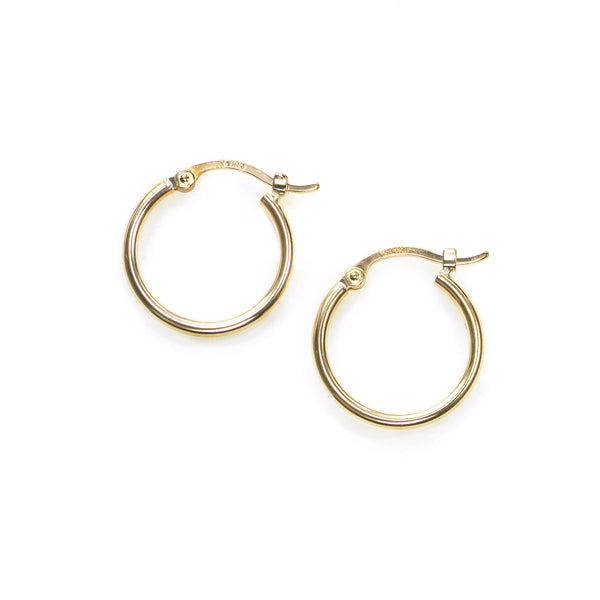 Half Inch Hoop Earring, 14K Yellow Gold