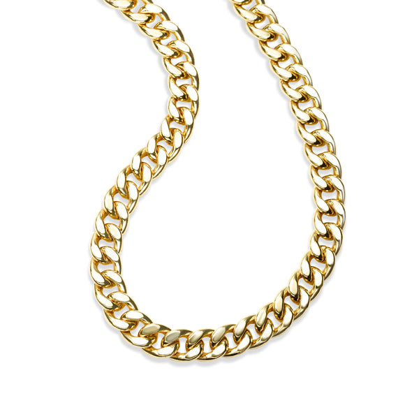 Substantial Cable Link Chain, 18 Inches, 14K Yellow Gold