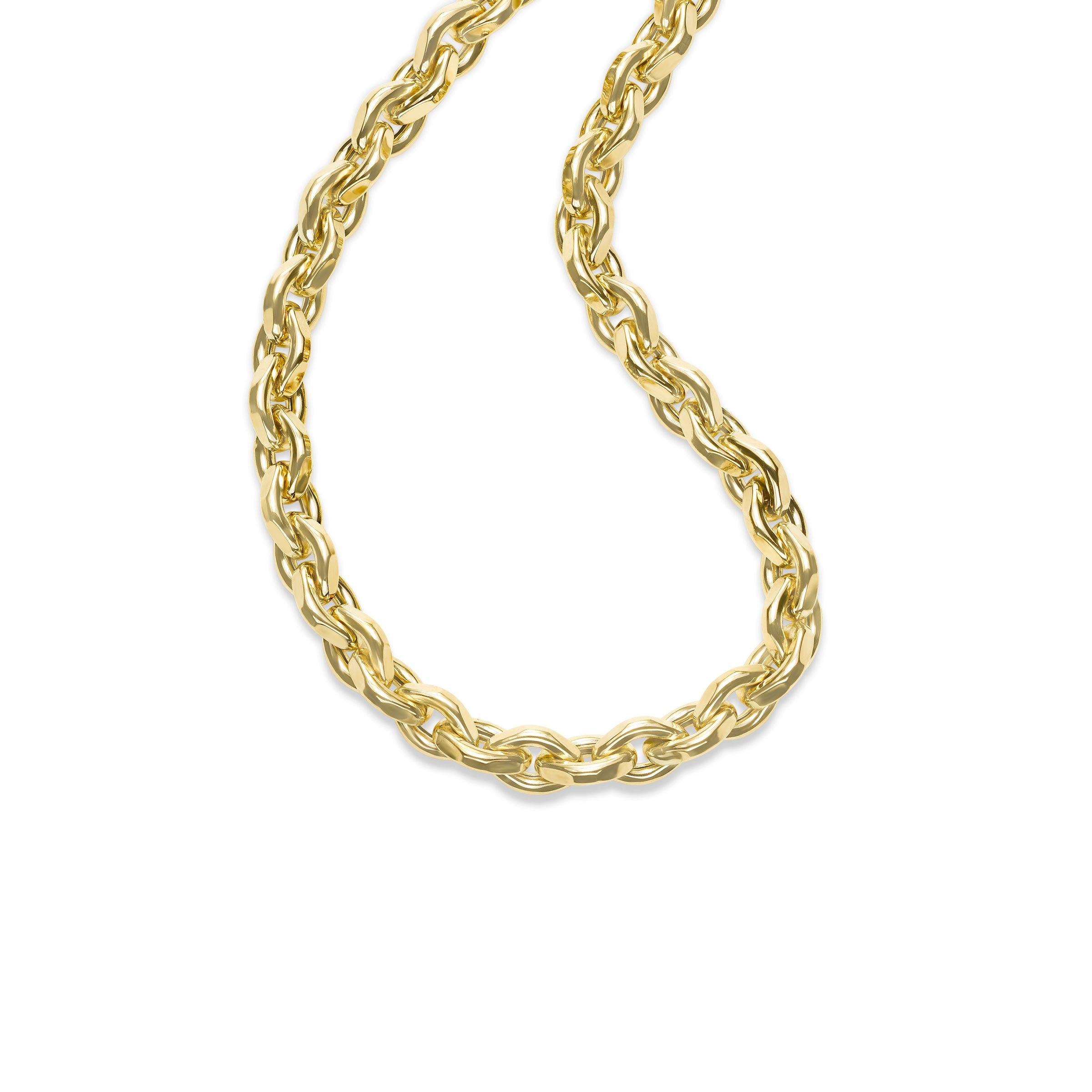 Substantial Oval Chain Necklace, 18 Inches, 14K Yellow Gold