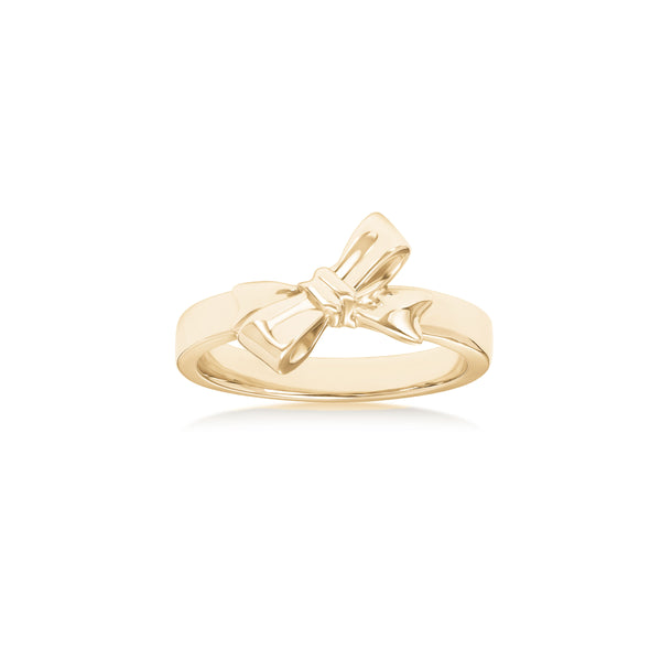 Bow Design Ring, 14K Yellow Gold